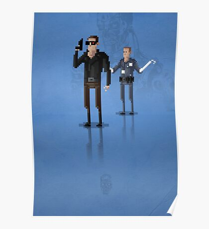 8-Bit TV Terminator Poster