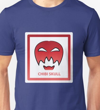 Chibi Skull 4 Red Unisex T-Shirt