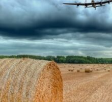 A Stormy September Evening HDR - The 2 Lancasters  Sticker