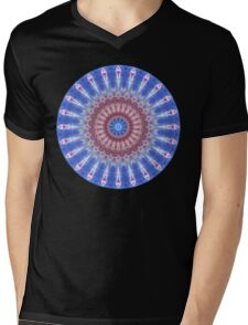 Star Shield Mandala Mens V-Neck T-Shirt