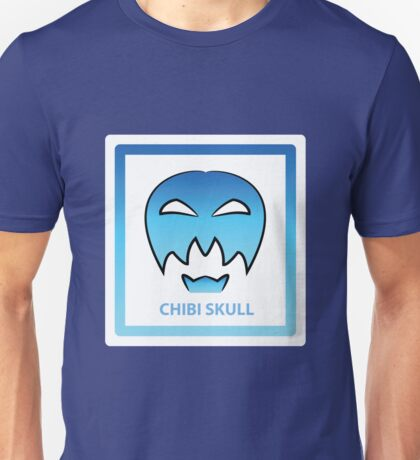 Chibi Skull 5 Light Blue Unisex T-Shirt