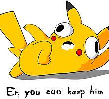 Pikachu after acid by LameGhost