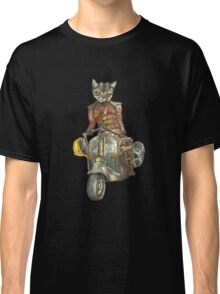Vintage Motorcycle Cat with Goggles Classic T-Shirt