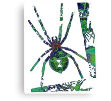 Arachnophilia-Green Canvas Print