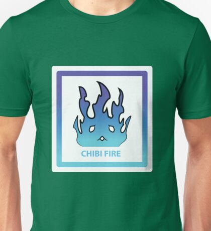 Chibi Fire 1 Blue Unisex T-Shirt