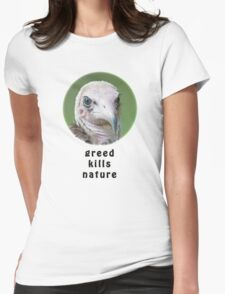Hooded Vulture for Nature Womens Fitted T-Shirt