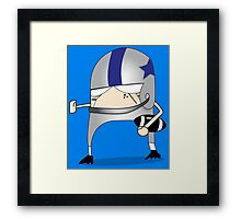 Football Cartoon Chibi Cowboys Framed Print