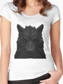 Black Wolf Women's Fitted Scoop T-Shirt