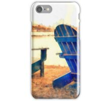 Adirondack Chairs by the Lake iPhone Case/Skin