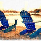 Adirondack Chairs by the Lake by Edward Fielding