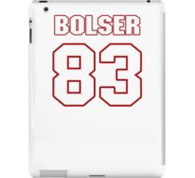 NFL Player Ted Bolser eightythree 83 iPad Case/Skin