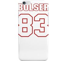NFL Player Ted Bolser eightythree 83 iPhone Case/Skin