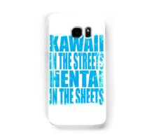Kawaii in the Streets... (BLUE) Samsung Galaxy Case/Skin