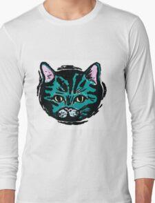 one very blue cat Long Sleeve T-Shirt