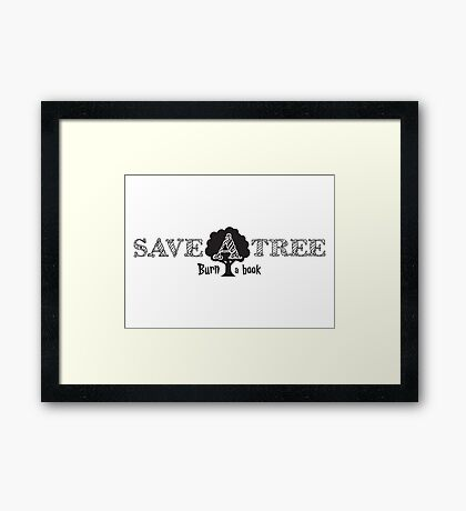 environmental inspirational funny tree illustration sarcastic hippie t shirts Framed Print