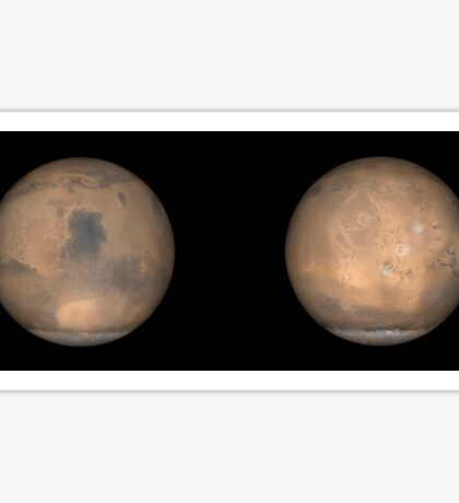 Global Views of Mars in late Northern Summer. Sticker