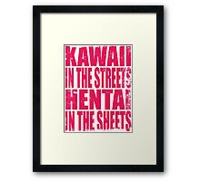 Kawaii in the Streets... (PINK) Framed Print