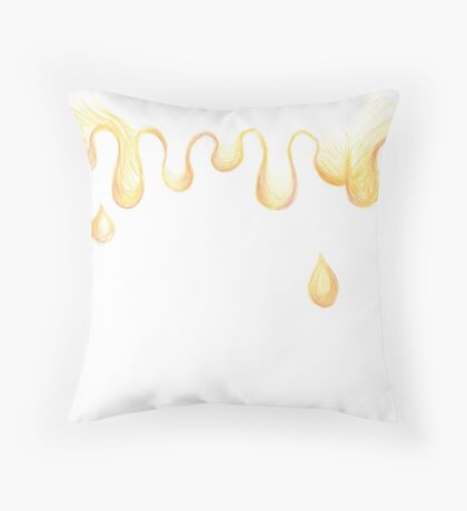 Abstract Honey Bear Throw Pillow