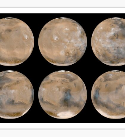A Mid-Northern Summer/Southern Winter on Mars. Sticker