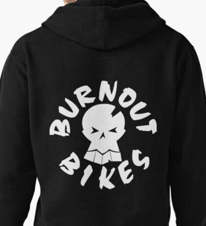 Burnout Bikes - White Logo 2 Pullover Hoodie