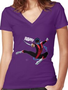 Nightcrawler Women's Fitted V-Neck T-Shirt