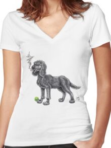 Wilfy Women's Fitted V-Neck T-Shirt