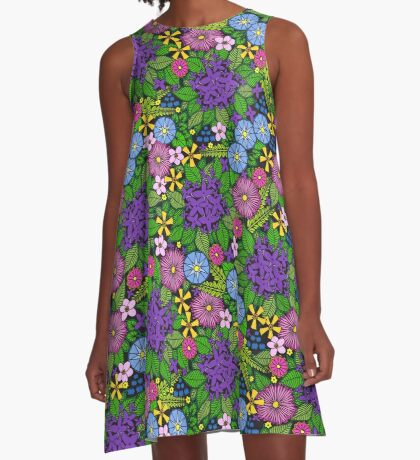 Wild Wildflowers A-Line Dress