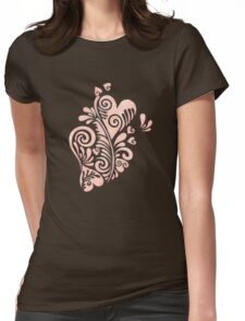 Cute watercolor pink hearts pattern Womens Fitted T-Shirt