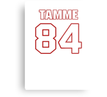 NFL Player Jacob Tamme eightyfour 84 Metal Print
