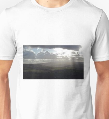 Rolling hills, cloudy sky Unisex T-Shirt