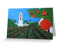 Parade of Oranges Greeting Card
