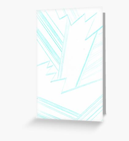 Abstract Genius Scientist Greeting Card