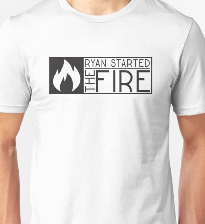 the office tv show lyrics funny ryan started the fire t shirts Unisex T-Shirt