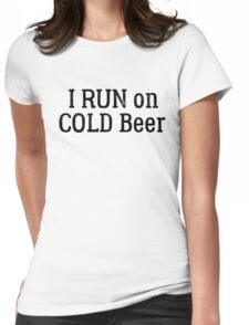funny beer drinking party running sport cool t shirts Womens Fitted T-Shirt