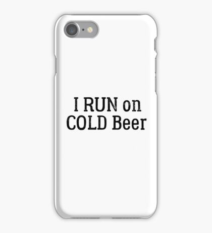 funny beer drinking party running sport cool t shirts iPhone Case/Skin