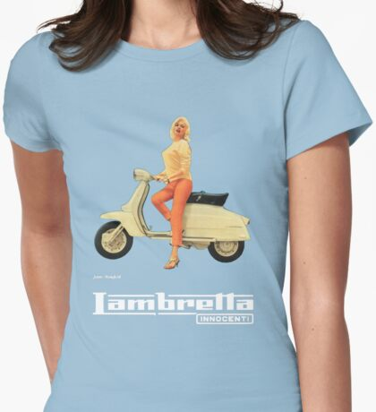 Vintage Lambretta Ad Womens Fitted T-Shirt