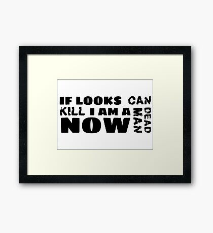 funny sarcastic movie quotes cool hipster typography t shirts Framed Print