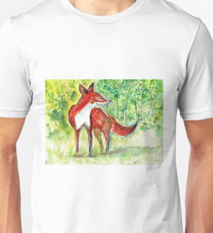 Zen Fox Trey Unisex T-Shirt