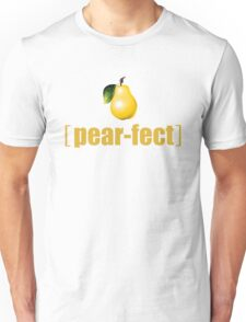 Practically Perfect Realistic Photographic Pear Graphic Tee Shirt Fruit and Vegetable Puns Unisex T-Shirt