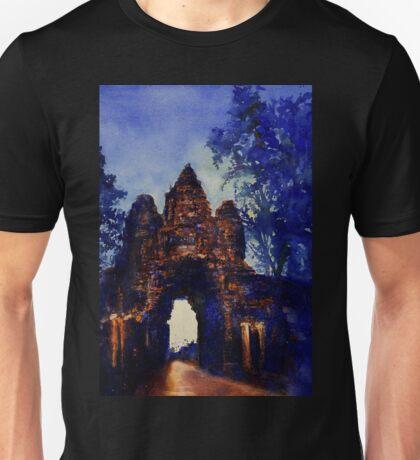 Angkor Wat Sunrise- Watercolor Painting Unisex T-Shirt
