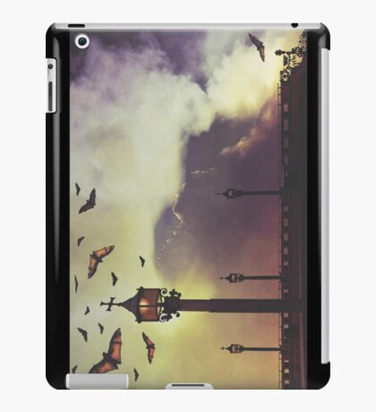 Bats by lamp light  iPad Case/Skin