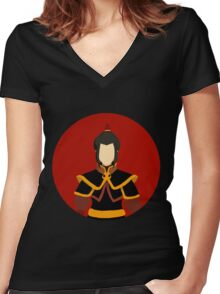 Fire Lord Azula Women's Fitted V-Neck T-Shirt
