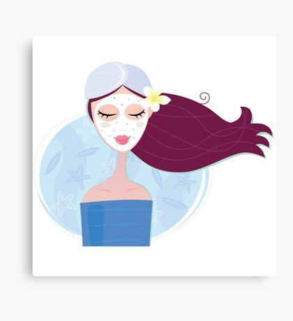 Wellness mare girl : blue Beauty Canvas Print