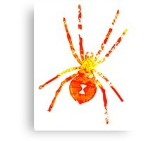 Arachnophilia-Orange/Red Canvas Print