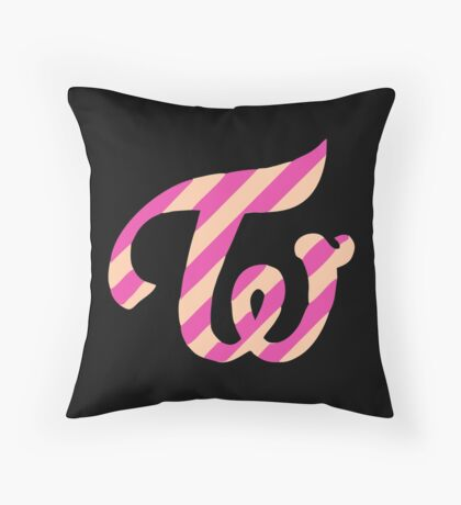 twicecoaster twice logo Throw Pillow