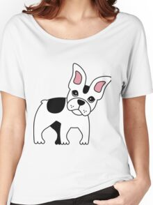 Frenchie puppy Women's Relaxed Fit T-Shirt