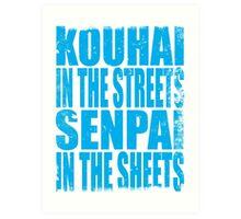 Kouhai in the Streets... (BLUE) Art Print