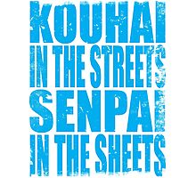 Kouhai in the Streets... (BLUE) Photographic Print
