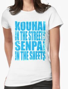 Kouhai in the Streets... (BLUE) Womens Fitted T-Shirt