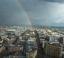 Rainbow Over East Vancouver by Mike  Chatwin